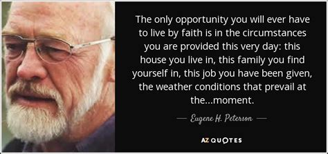 eugene  peterson quote   opportunity