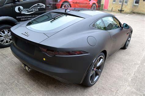 f type by jaguar wrapped in matte black reforma uk
