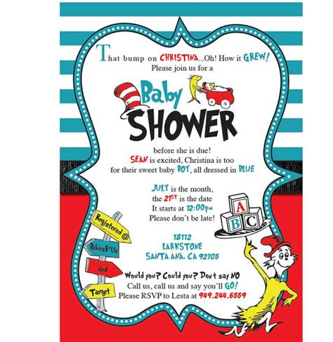 Dr Seuss Baby Shower by Dr Seuss Baby Shower Invitations