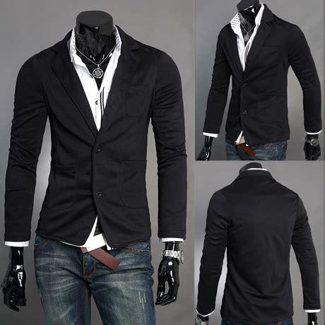 Blazer Pria Jas Pria Pakaian Pria grosir mens pria rajutan jas kasual dan ring jas kecil pria korea busana di blazers dari
