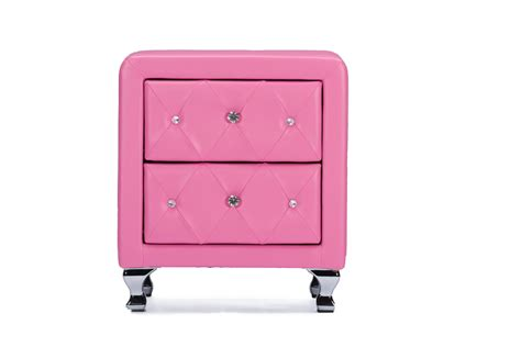 pink nightstand baxton studiostella tufted pink leather modern nightstand affordable modern furniture