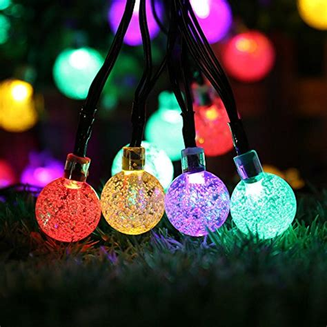 solar globe string lights solar string lights outdoor globe lights by icicle 20ft