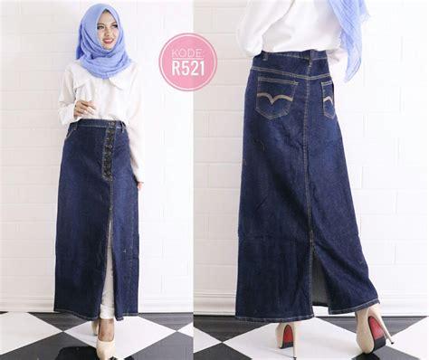 Skirt R521 rok span belah r521 baju style ootd
