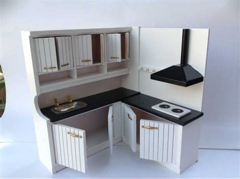 miniature dollhouse kitchen furniture 1 12 new design cute dollhouse miniature integral kitchen