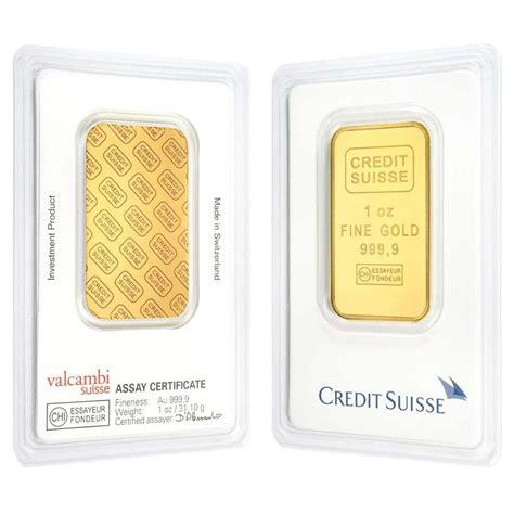 Credit Suisse 2 1 oz credit suisse gold bar 9999 in assay ebay