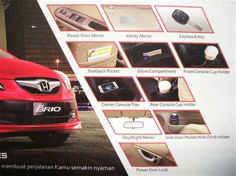 Alarm Untuk Brio fitur spesifikasi brio dealer honda arista depok