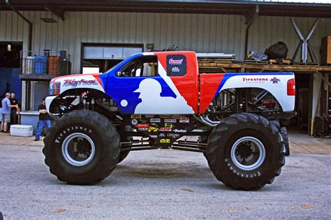 video monster trucks bigfoot monster truck defects to chevy after 35 years