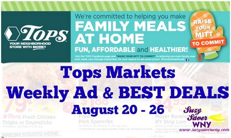 tops grocery coupons printable tops markets ad scan deals august 20 26 2017