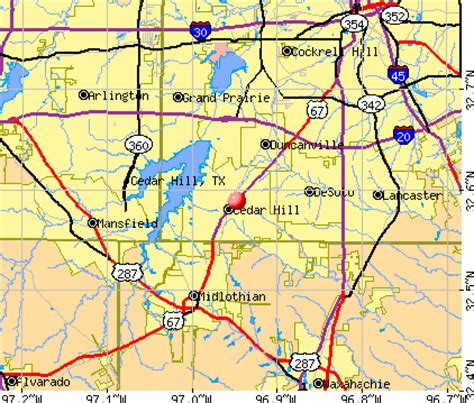 map of cedar hill texas cedar hill texas tx profile population maps real estate averages homes statistics