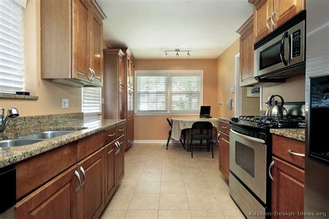 Galley Kitchen Remodeling Ideas by Pictures Of Kitchens Traditional Medium Wood Cabinets