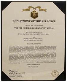 Air Commendation Medal Template by The Nebraska National Guard Master Sergeant Martin Coleman