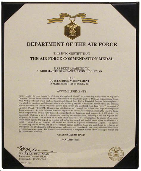air commendation medal template the nebraska national guard master sergeant martin coleman