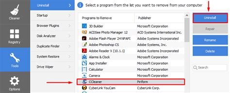 ccleaner not uninstalling how to uninstall ccleaner for windows 10 windows 10 pro