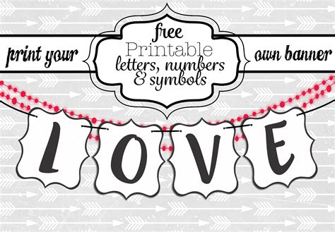 Free Printable Black And White Banner Letters Diy Swank Banner Letter Template