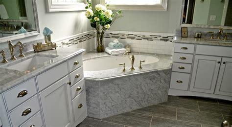 Carolina Custom Kitchen And Bath by Parade Of Homes 2012 Winner White Carrara Marble Master