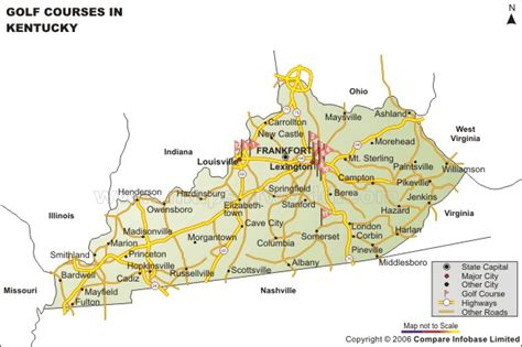 kentucky golf map kentucky golf courses map golf courses in kentucky