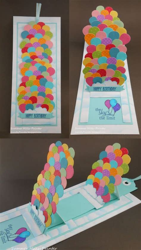 diy happy birthday pop up card template 466 best pop up cards images on