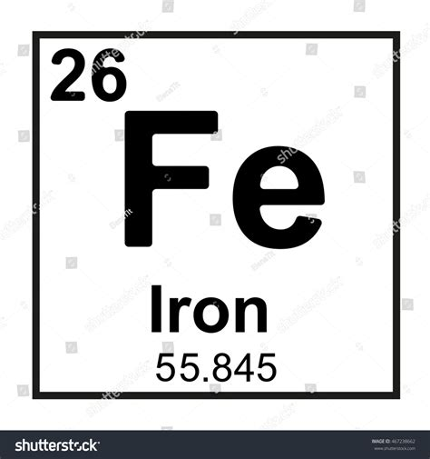 Symbol For Iron On Periodic Table by Periodic Table Element Iron Stock Vector 467238662