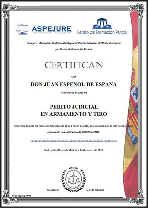 certificado de seguridad de armas de fuego certificado