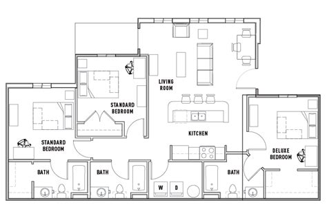 Acc Floor Plan Images 3 Bedroom Apartments Montreal Rooms   3 bed 3 bath deluxe the province ta student