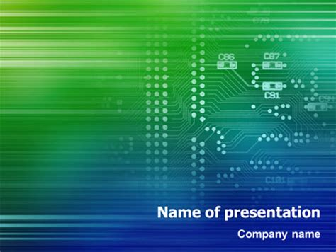 printed circuit board presentation template for powerpoint