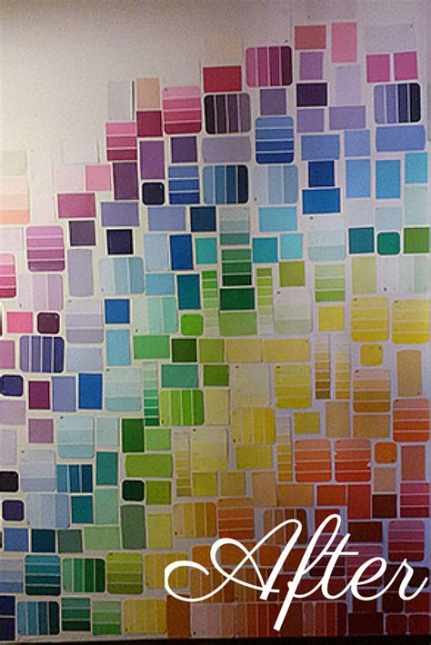 diy paint swatch wall style 2 grid dearest