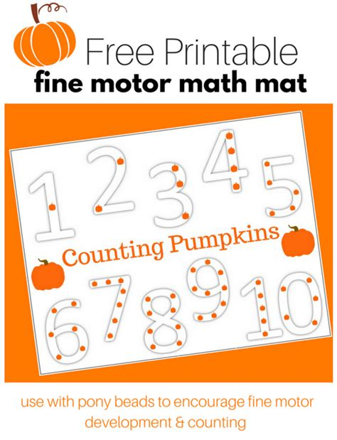 printable pumpkin number cards pumpkin counting activity with free printable no time