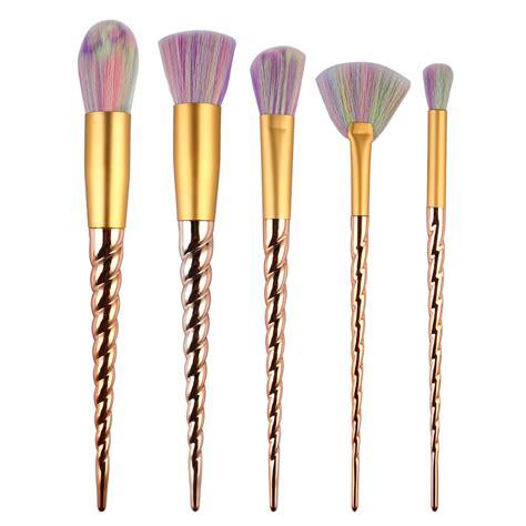 New Make Up Brush Set Kit Kuas Make Up Makeup Dompet Kosmetik Murah 5pcs new gold unicorn makeup brushes kit professional
