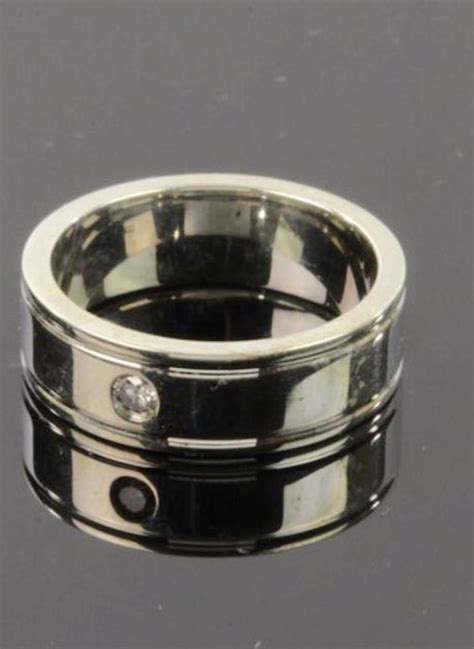 argentium silver band ring with catawiki