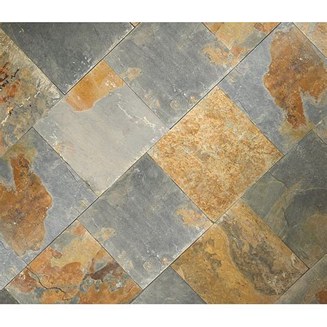 quot rustic quot slate floor tiles rona for front and back