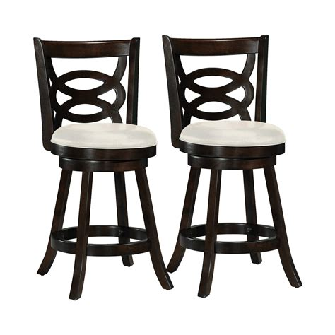 Bar And Stool Sets Corliving Dwg 81 Woodgrove Wood Bar Stool With Leatherette Seat Set Of 2 Lowe S Canada