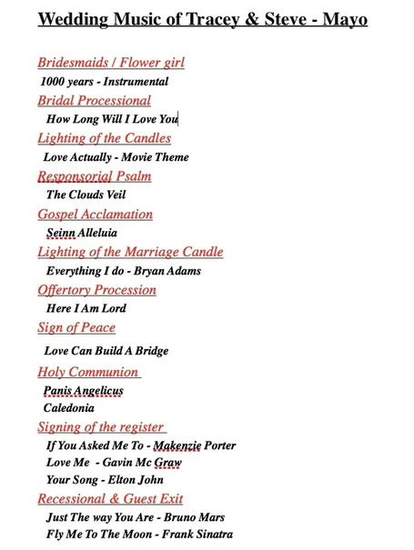 wedding processional songs recessional music church