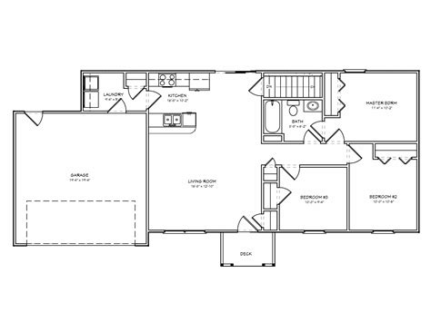 3 bedroom ranch floor plans small house plan small 3 bedroom ranch house plan the