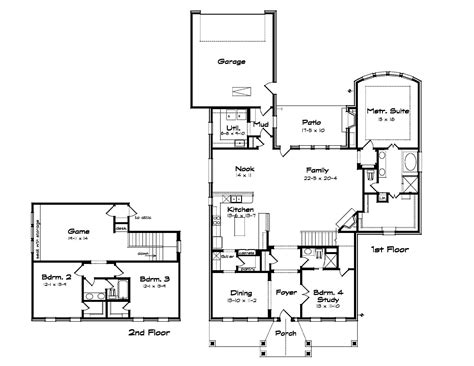 Floor Plans With Large Kitchens by House Plans With Large Kitchens House Plan W2661 Detail