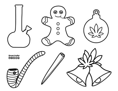 christmas themed drawing diy marijuana themed christmas kushmas ornaments
