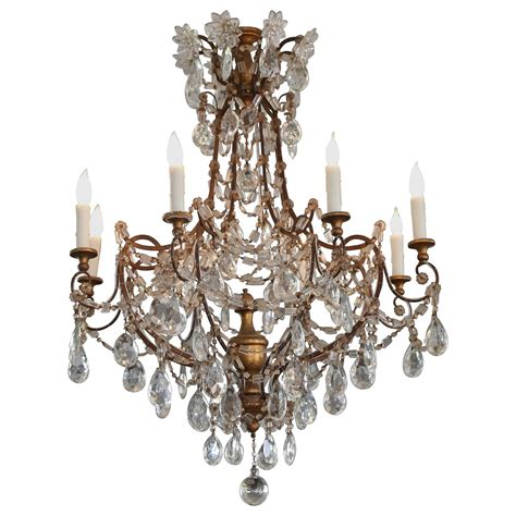 Gold Chandeliers For Sale 19th Century Italian Genovese Chandelier With Gold