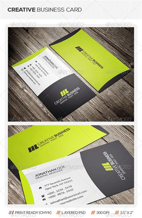 Creative Business Card Print Templates by Print Template Graphicriver Creative Corporate Business