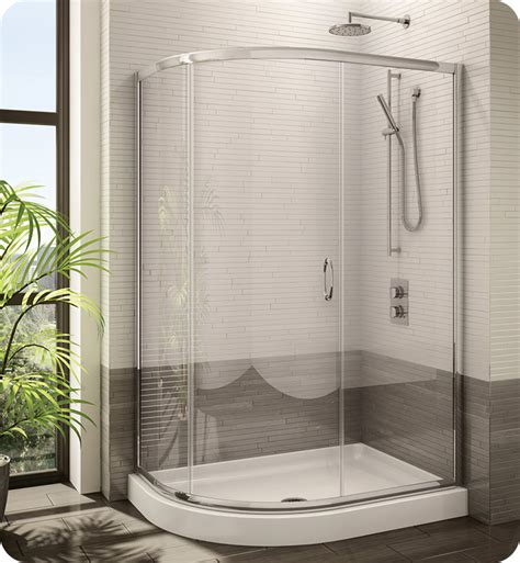 Curved Glass Shower Door Fleurco Fa483 Signature Half Frameless Curved Glass Sliding Shower Door