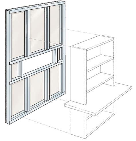scaffale in cartongesso semi parete in cartongesso separa gli ambienti