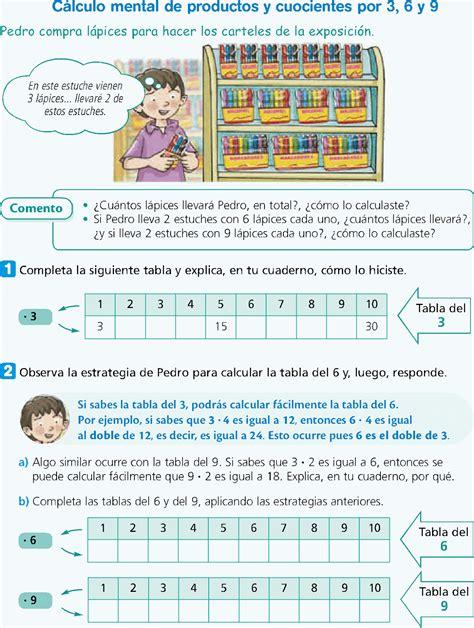 el resultado resumen de los clculos de la tabla estrategias de multiplicacion y division ejercicios de