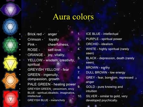 aura colors and meanings discover what the colors mean reading auras colors google search inner self earth