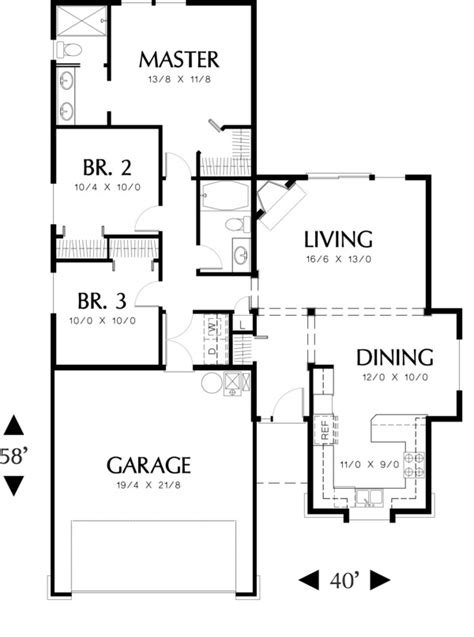 48 square feet ranch style house plan 3 beds 2 baths 1271 sq ft plan