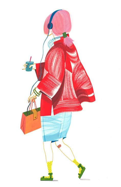 zhu zhu fashion illustration quot is better with colors quot gouache illustration by ping zhu inspiring design
