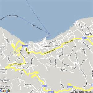 Sorrento Italy Map by Sorrento Italy Map
