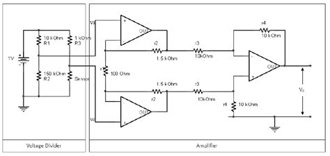 resistor divider op signal conditioning circuit voltage divider lifier