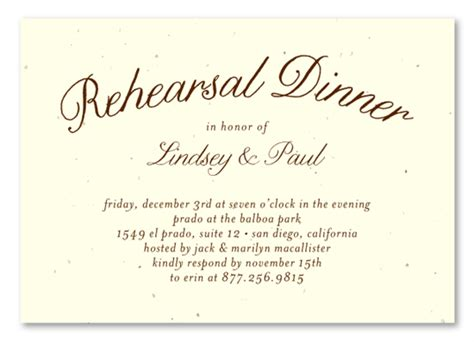 Plantable Rehearsal Dinner Insert Cards On Seeded Paper Organic By Foreverfiances Weddings Dinner Rsvp Template