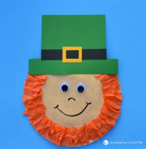 Leprechaun Paper Craft - paper plate leprechaun the kindergarten connection