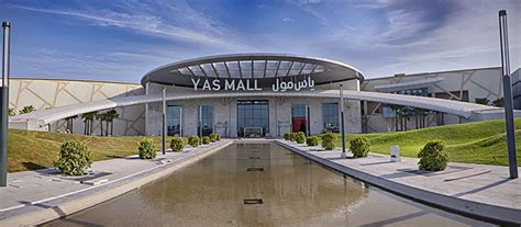layout of yas mall canopy roof featuring diab material shelters the entrance