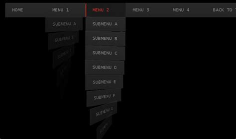 html5 navigation menu template horizontal css3 menus tutorials html5xcss3