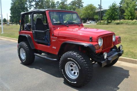 Best Tires For Jeep Wrangler Sport Purchase Used 2002 Jeep Wrangler Sport 4 0 35 Tires Lift